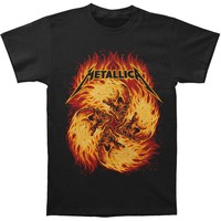 Metallica Men's  Flame Skulls Slim Fit T-shirt Black