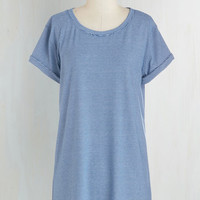 Nautical Long Short Sleeves Simplicity on a Saturday Tunic in Nautical Stripes