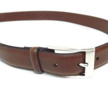 MENS TAN / brown genuine ITALIAN Leather Made In italy Quality belt Size 38 /95