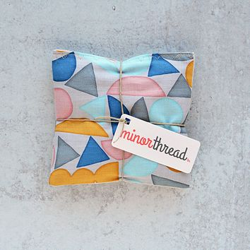 Lavender Sachets in Watercolor Shapes - Set of 2