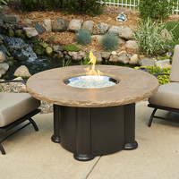 4 Foot Gas Fire Pit Table With Supercast Mocha Top