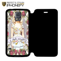 Marina And The Diamond Hate Everything Samsung Galaxy S5 Flip Case|iPhonefy