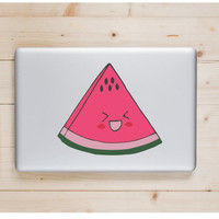 """Watermelon Kawaii Die Cut Sticker // Cute Japanese Decal // Tablet XL Size // 8"""" // Perfect For Indoor, Outdoor, Laptop, Car"""