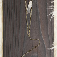 Double Layer Crystal Necklace - Gold