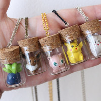 8/11/2015 - MORE OF THESE FOR SALE NOW! <3 Pokémon Necklaces - TOYS in a BOTTLE - Mix and Match colors
