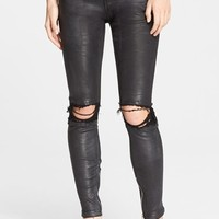 Women's RtA 'Dylan' Destroyed Leather Skinny Pants