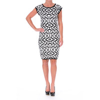 Laundry by Shelli Segal Womens Knit Cap Sleeves Sweaterdress