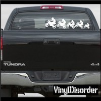 Family Decal Set Dirt Bikes 01 Stick People Car or Wall Wall Decal - Vinyl Decal - Car Decal -