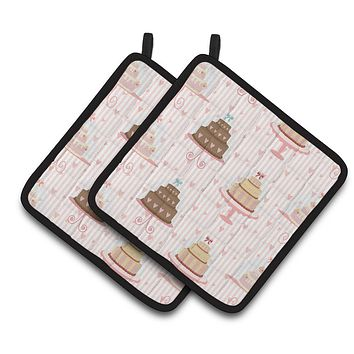 Decorated Cakes Pair of Pot Holders BB7311PTHD