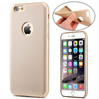Ultra Slim Leather Case for Apple iPhone 6 6S 4.7 Inch TPU With Logo Hole Phone Soft Back Cover For iPhone 6 Plus 5.5 Fundas