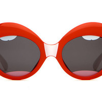 The Saloma Tropic- Gloss Red Lips w/ White Stems