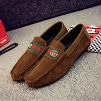 DCCKJN6 Autumn new male beans shoes UK breathable anti-leather man peas shoes lazy man pedal driving shoes