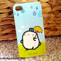 Lovely RABBIT, RAINY DAY - iPhone 4 Case, iPhone 4s Cover