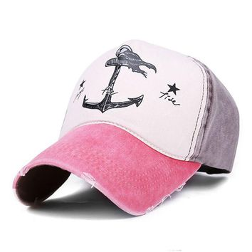 Snapback Fashion Hit Color Pirate Anchors Summer Baseball