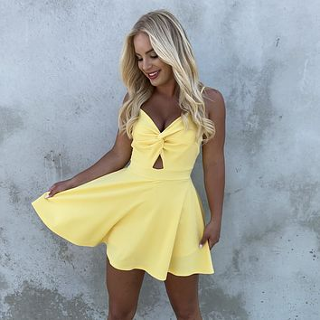 Knot Your Average Romper in Yellow
