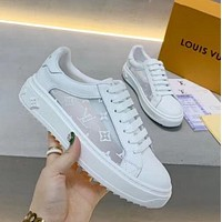 LV Silk  embroidery  colorful  moving shoes