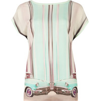 Keep rolling graphic Tshirt - Mint   Tops & T-shirts   Ted Baker UK