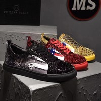 New Philipp Plein Cool Rivet Casual Shoes