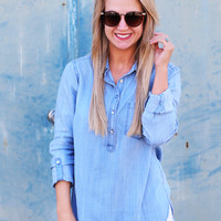Boyfriend Denim Tunic