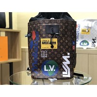 LV Louis Vuitton Shoulder Bag Student Bag Lightwight Backpack Womens Mens Bag Travel Bags