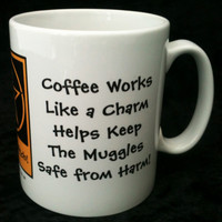 Coffee Works Like a Charm! Funny Pagan Wiccan Mugs designed by Cheeky Witch