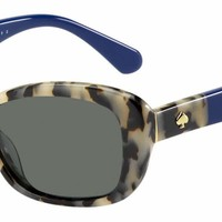 Kate Spade - Claretta P S Havana Blue Sunglasses / Gray Polarized Lenses