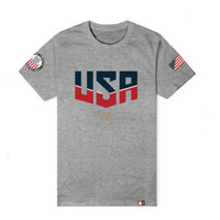 Olympic Usa Tee In Heather Grey