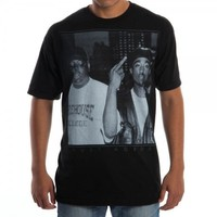 Tupac and Biggie Trust Nobody Black Mens Tee (Large)