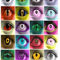 womens eyes, contact lense clip art, evil creature eyes, 2 inch squares, digital image download collage sheet