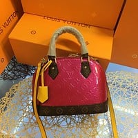 LV Louis Vuitton Monogram Vernis LEATHER ALMA HANDBAG SHOULDER BAG