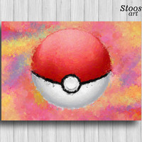 pokeball print pokemon go poster pokemon party favors pokeball art