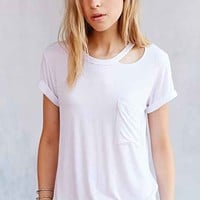 LNA Twin Palms Tee- White