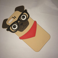 """Fashion 3D Pug Case Silicone Shell Cover For APPLE iPhone 5 5s 6 4.7"""""""