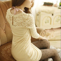 Long Sleeve Casual Lace Dress  AA827DI