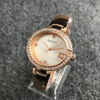 Trending Fashion Gucci Diamonds Alloy Watch Business Watches G