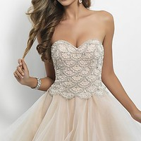 Short Strapless Party Dress by Blush 9650