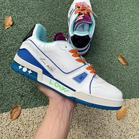 2021 LV TRAINER White Blue 1A5QCH Size 38-46