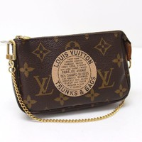 Louis Vuitton Monogram Trunks and Bags Mini Pochette Accessories