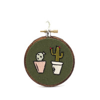 Miniature Cactus Pair Cross Stitch