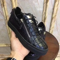 Giuseppe Zanotti Leather Fashion Low Top Sneakers Shoes