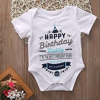 Adorable born Infant Baby Girl Boy Romper Jumpsuit Birthday Party Clothes