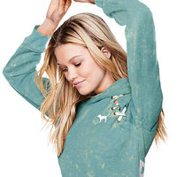 Cropped Lace-Up Pullover - PINK - Victoria's Secret