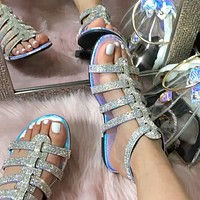 Fashion diamond-studded slippers women shoes sandals