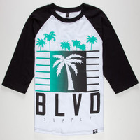 Blvd My City Mens Baseball Tee White  In Sizes