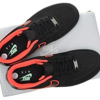 Nike Air Force 1 488298 048 Black Red For Women Men Running Sport Casual Shoes Sneakers
