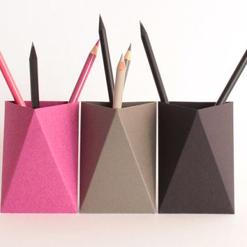 How To Make Paper Pencil Holder (Box) | Origami Pen Stand … | Flickr | 354x354