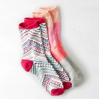 AEO PRINTED MID-CREW SOCK 2-PACK