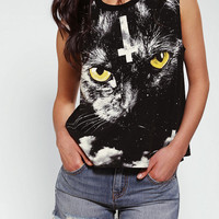 Truly Madly Deeply Night Watch Cat Muscle Tee