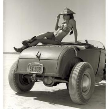 El Mirage High Boy Pin Up Girl Photo by David Perry Fine Art Print