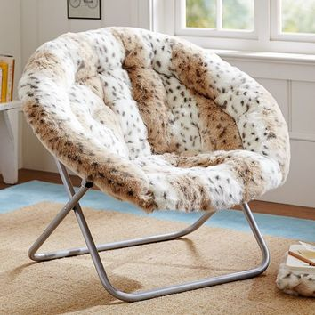 Snow Leopard Hang-A-Round Chair